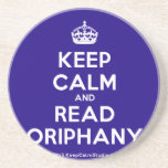 [Crown] keep calm and read oriphany  Coasters