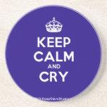 [Crown] keep calm and cry  Coasters