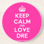 [Crown] keep calm and love dre  Coasters