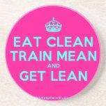 [Crown] eat clean train mean and get lean  Coasters
