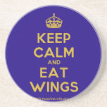 [Crown] keep calm and eat wings  Coasters