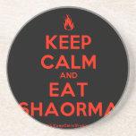 [Campfire] keep calm and eat shaorma  Coasters