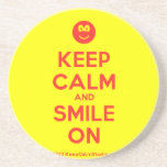 [Smile] keep calm and smile on  Coasters