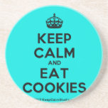 [Crown] keep calm and eat cookies  Coasters