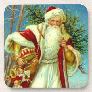 Coasters Antique Vintage Woodland Christmas Santa