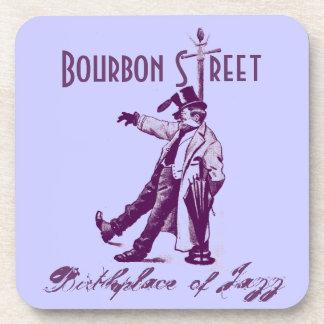 Coasters Bourbon Street NOLA Birthplace of Jazz