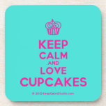 [Cupcake] keep calm and love cupcakes  Coasters (Cork)