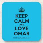 [Crown] keep calm and love omar  Coasters (Cork)