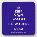 [Crown] keep calm and watch the walking dead  Coasters (Cork)