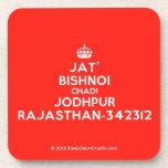 [Crown] jat' bishnoi chadi jodhpur rajasthan-342312  Coasters (Cork)