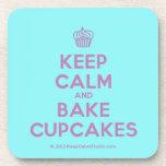 [Cupcake] keep calm and bake cupcakes  Coasters (Cork)