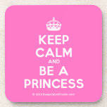 [Crown] keep calm and be a princess  Coasters (Cork)