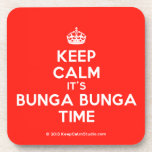 [Crown] keep calm it's bunga bunga time  Coasters (Cork)