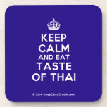 [Crown] keep calm and eat taste of thai  Coasters (Cork)