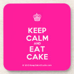 [Cupcake] keep calm and eat cake  Coasters (Cork)