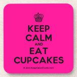 [Cupcake] keep calm and eat cupcakes  Coasters (Cork)