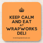 [Crown] keep calm and eat at wrapworks deli  Coasters (Cork)