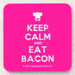 [Chef hat] keep calm and eat bacon  Coasters (Cork)