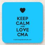 [Love heart] keep calm and love cma  Coasters (Cork)