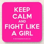 keep calm and fight like a girl  Coasters (Cork)