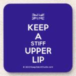 [UK Flag] keep a stiff upper lip  Coasters (Cork)
