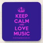 [Dancing crown] keep calm and love music  Coasters (Cork)
