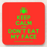[Cutlery and plate] keep calm and don't eat my face  Coasters (Cork)