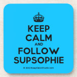 [Crown] keep calm and follow supsophie  Coasters (Cork)
