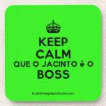 [Crown] keep calm que o jacinto é o boss  Coasters (Cork)
