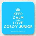 [Crown] keep calm and love coboy junior  Coasters (Cork)