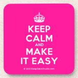 [Crown] keep calm and make it easy  Coasters (Cork)