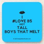 [Two hearts] i #love b5 hot tall boys that melt  Coasters (Cork)