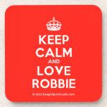 [Crown] keep calm and love robbie  Coasters (Cork)