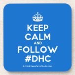 [Crown] keep calm and follow #dhc  Coasters (Cork)