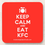 [Cutlery and plate] keep calm and eat kfc  Coasters (Cork)