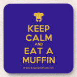 [Chef hat] keep calm and eat a muffin  Coasters (Cork)