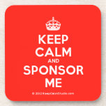 [Crown] keep calm and sponsor me  Coasters (Cork)