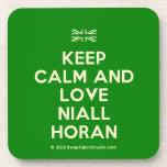 [UK Flag] keep calm and love niall horan  Coasters (Cork)