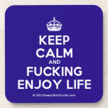 [Crown] keep calm and fucking enjoy life  Coasters (Cork)