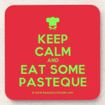 [Chef hat] keep calm and eat some pasteque  Coasters (Cork)