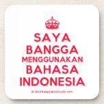 [Crown] saya bangga menggunakan bahasa indonesia  Coasters (Cork)