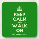 [Crown] keep calm and walk on  Coasters (Cork)