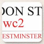 LONDON STREET SIGN  Coasters (Cork)
