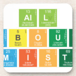 All About  Chemistry  Coasters (Cork)