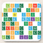 if you love chemistry, you'll love this website. As long as you don't mind them making up elements that don't Really exist and getting rid of some letters to  make things like m,l,a,g  Coasters (Cork)