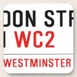 LONDON STREET SIGN  Coasters (Cork)