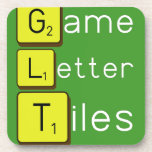 Game Letter Tiles  Coasters (Cork)