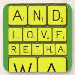keep calm and love Retha wa Bongz  Coasters (Cork)
