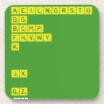 AEILNORSTU DG BCMP FHVWY K   JX  QZ  Coasters (Cork)