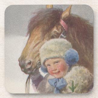 Coasters Enchanting Antique Child w/ Pet Bay Pony